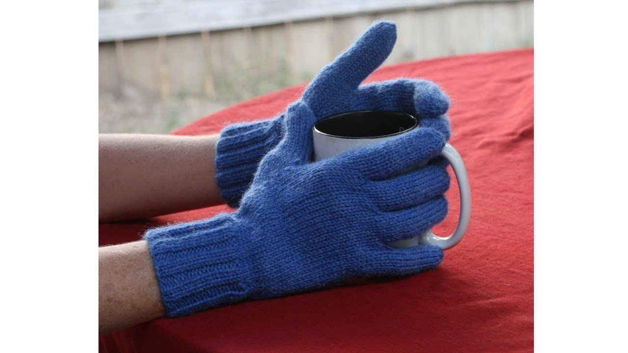 DIY... How to knit gloves with fingers.... Tutorial Video