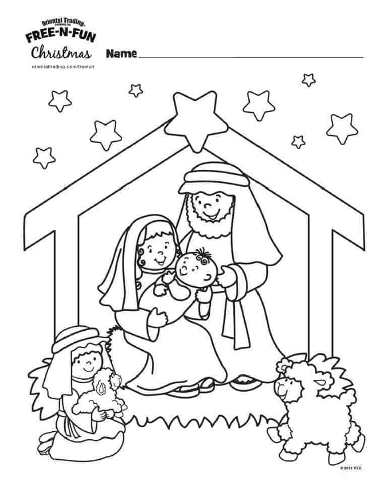 9 Wonderful Winter Kids Coloring Pages Christmas Sunday School Crafts Nativity Coloring Nativity Coloring Pages