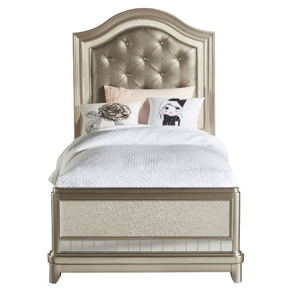 Lil Diva Champagne Twin Bed Bedroom Panel Kids Bedroom Furniture Kids Room Furniture