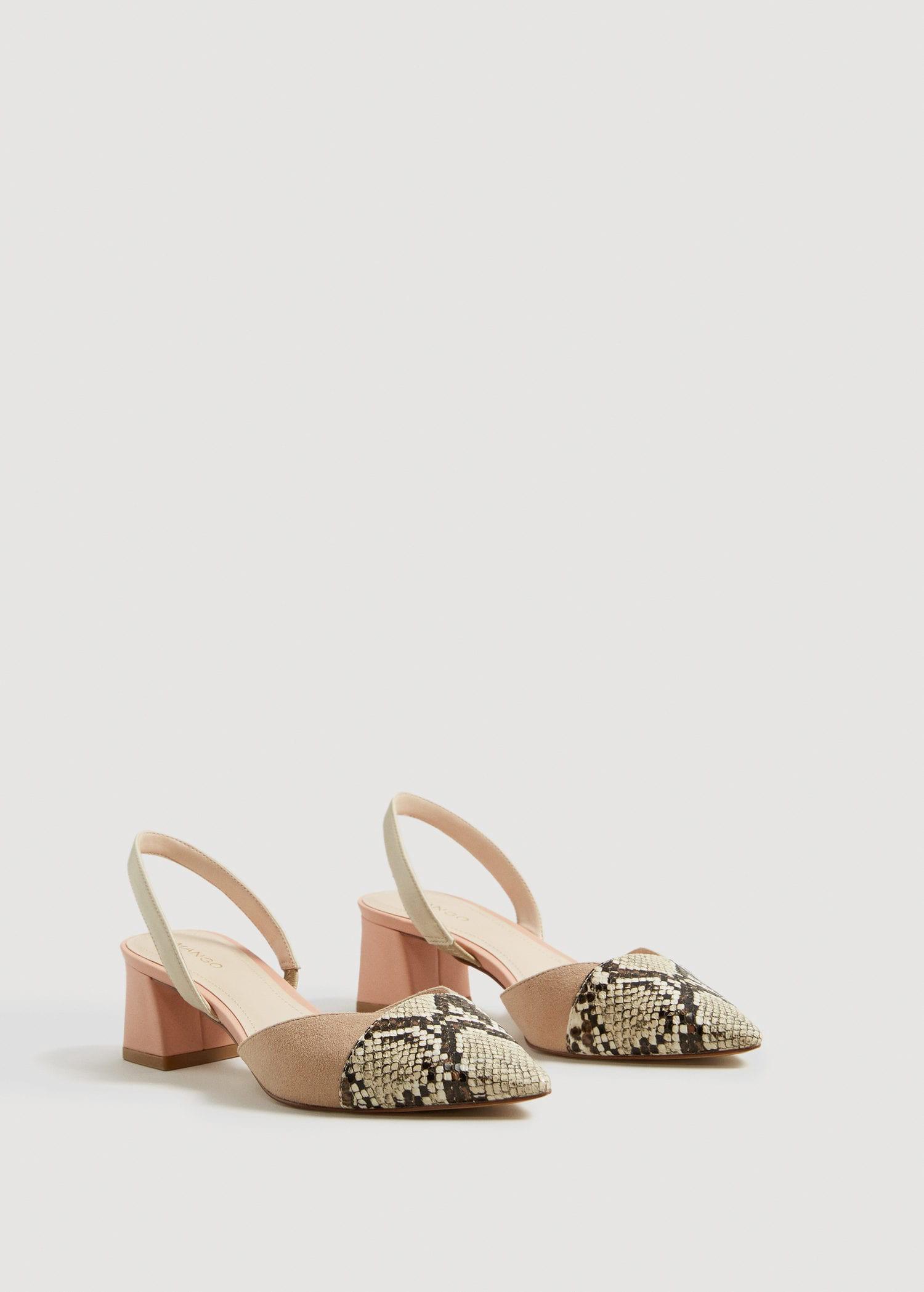 55b082b13a6366 Mango Contrast Slingback Shoes - Women