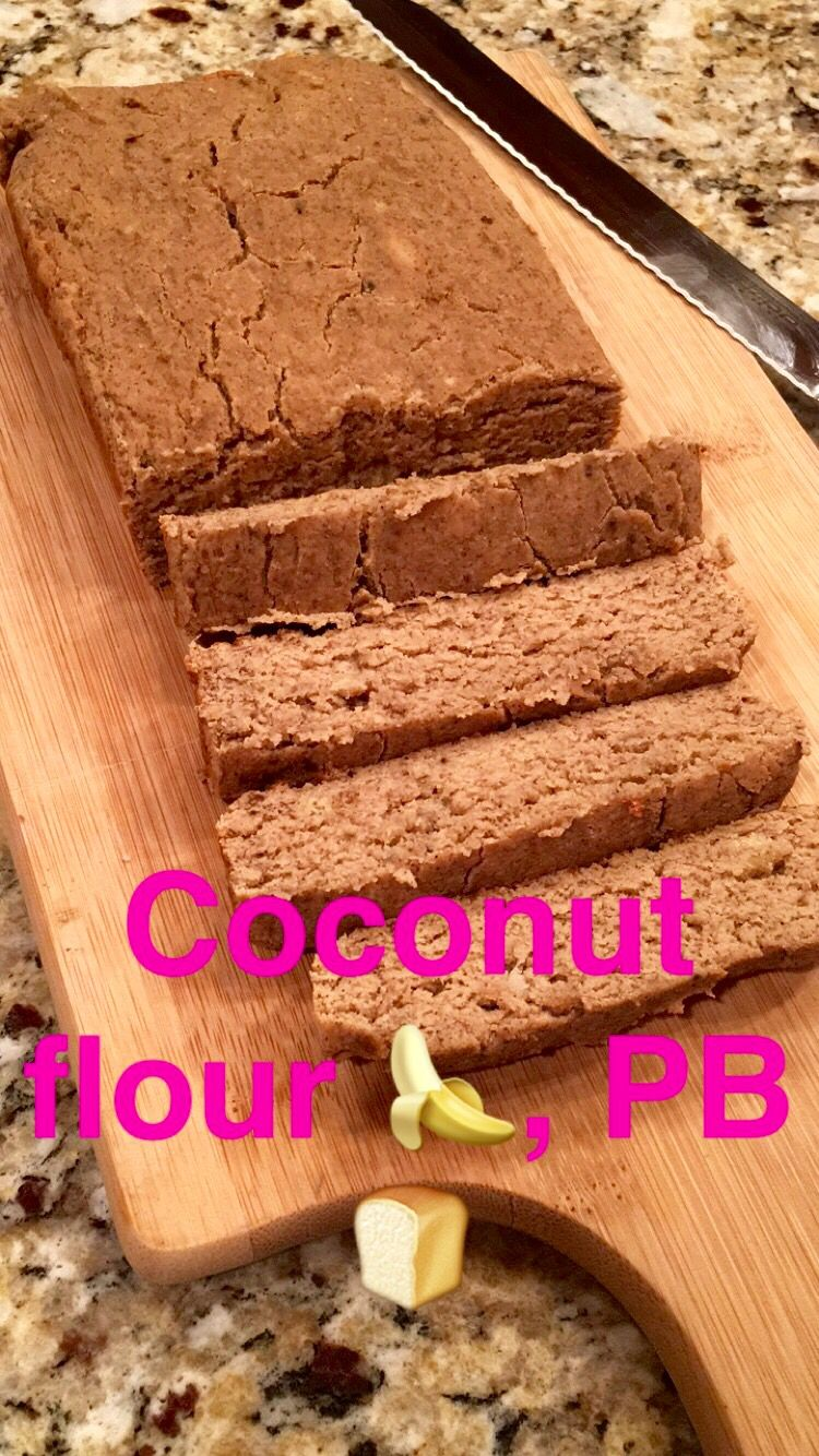 1)Mix 1/2 cup coconut flour, 1 tsp cinnamon, 1/4 tsp nutmeg, 1/2 tsp baking powder & soda, & a pinch of salt. 2)In another bowl mash 3 ripe bananas. Add & whisk in 1/4 cup better'n  peanut butter, 1 1/2 T honey or maple syrup, 1/2 tsp vanilla extract & 4 egg whites. 3)Add coconut flour mixture to medium bowl of wet ingredients- using a rubber spatula to gently stir until combined. 4) Pour into a loaf pan lined w/ parchment paper & bake at 375 for 27 mins. Store in fridge for up to 3 days…