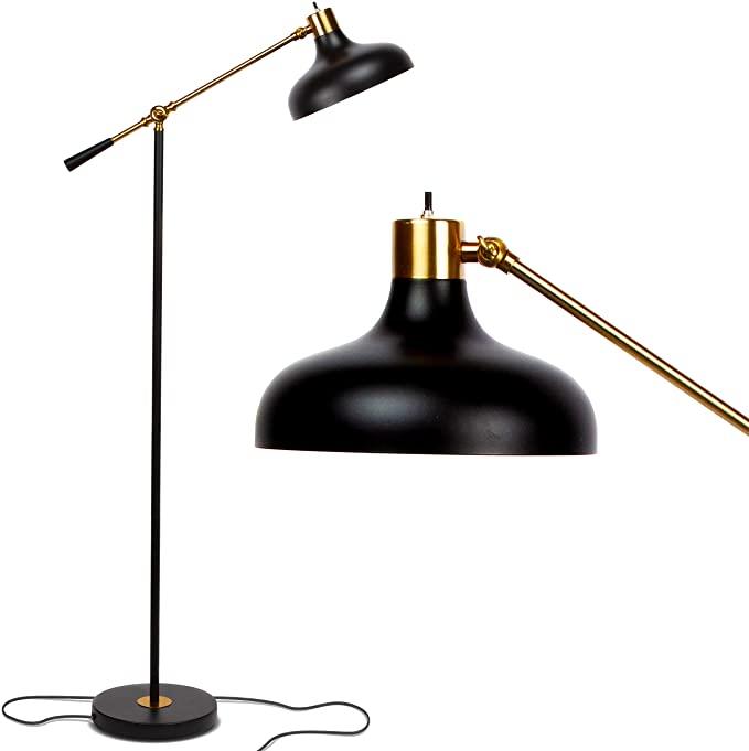 Brightech Wyatt Industrial Floor Lamp For Living Rooms Bedrooms Rustic Farmhouse Reading Lamp Industrial Floor Lamps Pole Lamps Floor Lamps Living Room