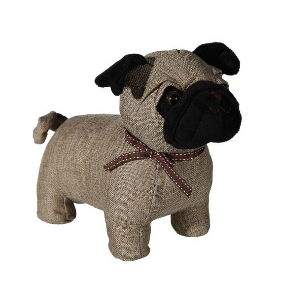 Personalised Pug Door Stop I Love Pugs Dog By Millingtonsgifts