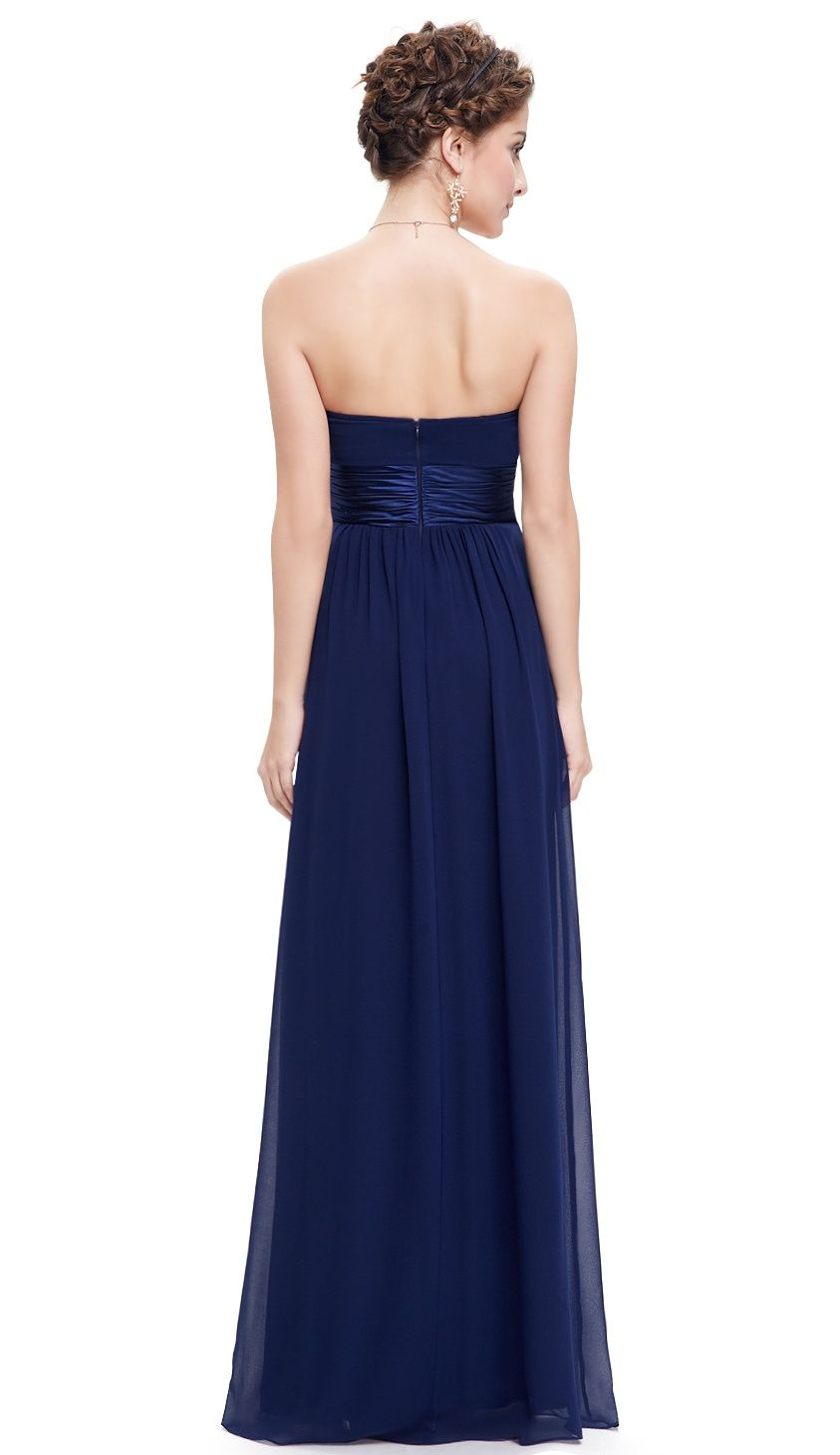 1ebd6096fc6 Ever-Pretty Womens Elegant Long Maxi Strapless Summer Wedding Guest  Bridesmaid Prom Dresses for Women 09955 Blue US 4 Maxi