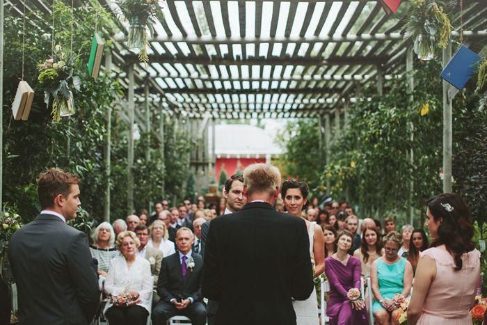 Saskatoon Farm Wedding, Rustic Ceremony, Greenhouse
