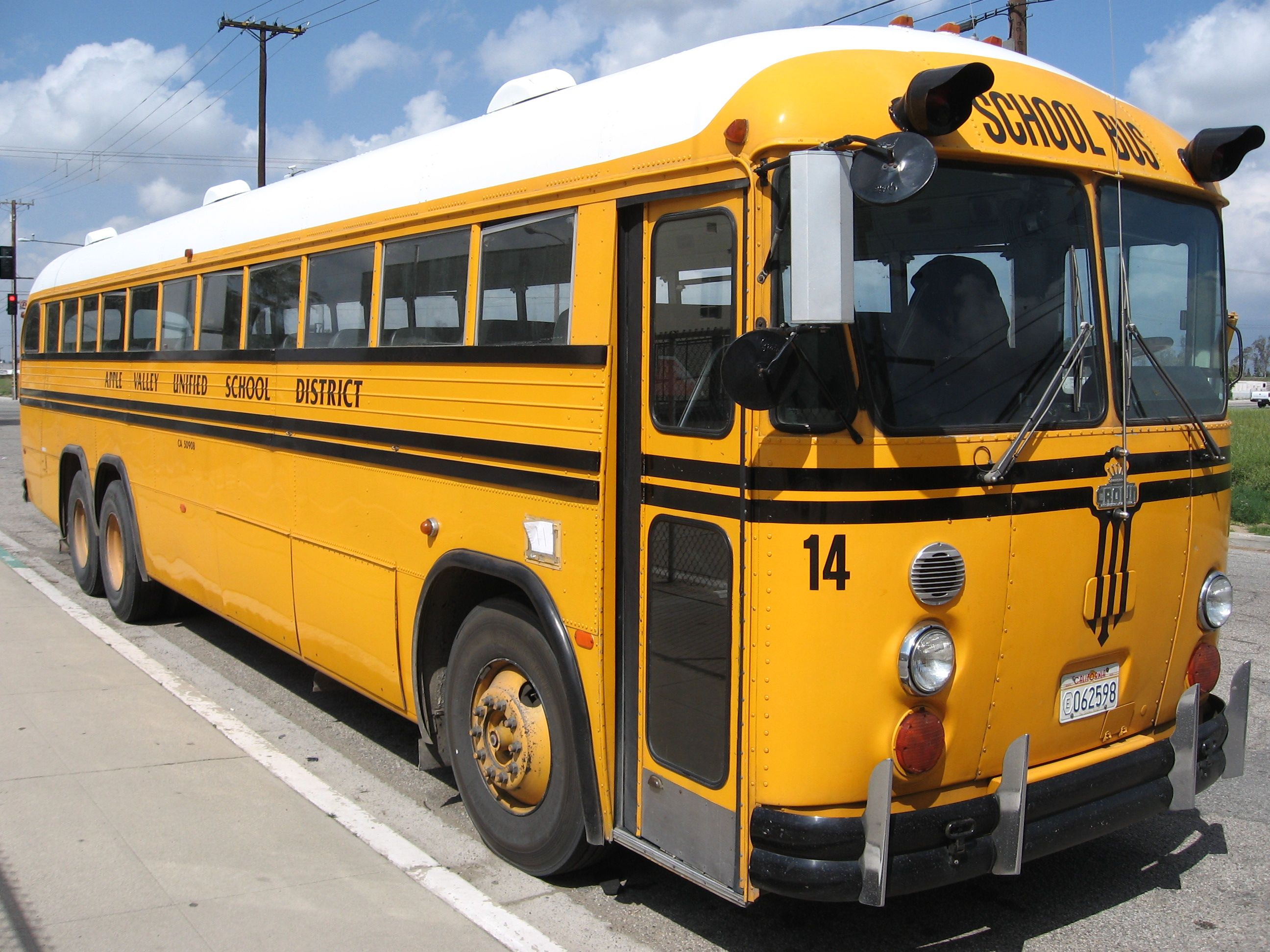 """""""California Crown"""" School Bus. Made Through The 80's, They"""