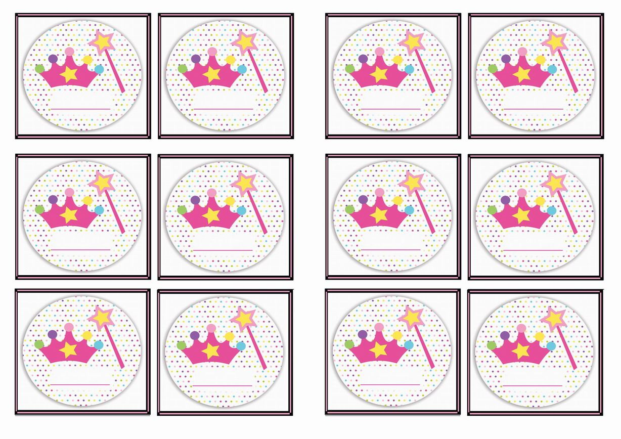 Free Printable Princess Themed Name Tags
