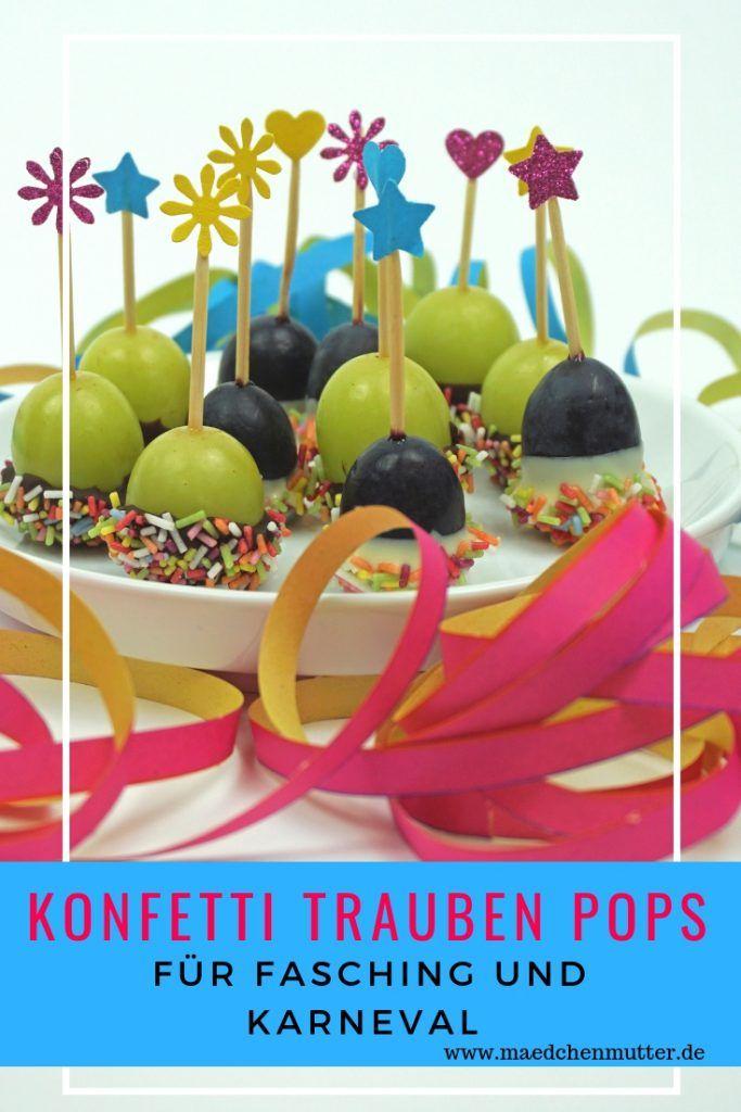 Konfetti Trauben Pops / Der (fast) gesunde Snack plus Mini DIY Spießchen - Mädchenmutter #fingerfoodkinder