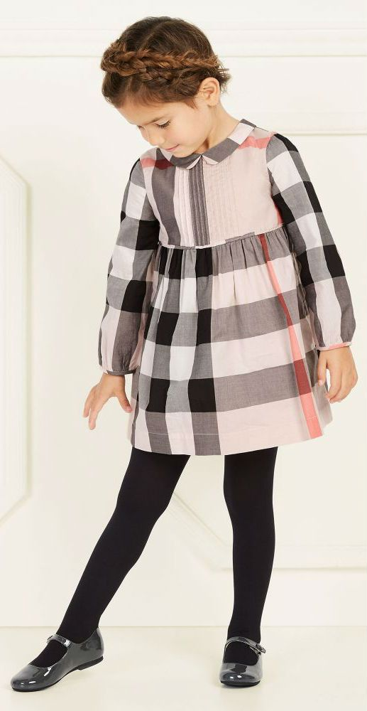 142d781f0231 BURBERRY Girls Mini Me Pink Check Dress #kidsfashion #burberry #girl #dress  #kids #fashion #style #cute