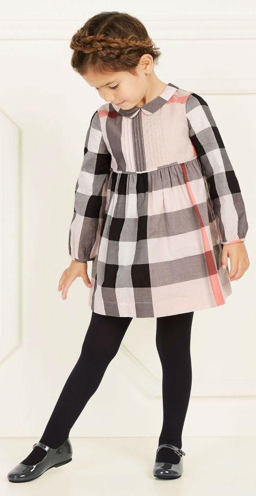 cb802fc60fe3 BURBERRY Girls Mini Me Pink Check Dress #kidsfashion #burberry #girl #dress  #kids #fashion #style #cute