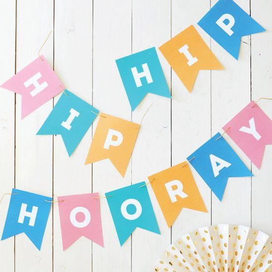 download and print this free hip hip hooray pennant