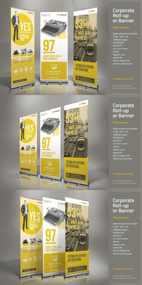 Corporate Roll Up Presentation Templates 10 00 Exhibition Display Design Presentation Templates Roll Up Design