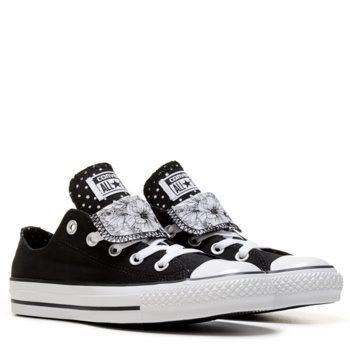 9db55ab27f96 Converse Women s Chuck Taylor All Star Double Tongue Low Top Sneaker Shoe
