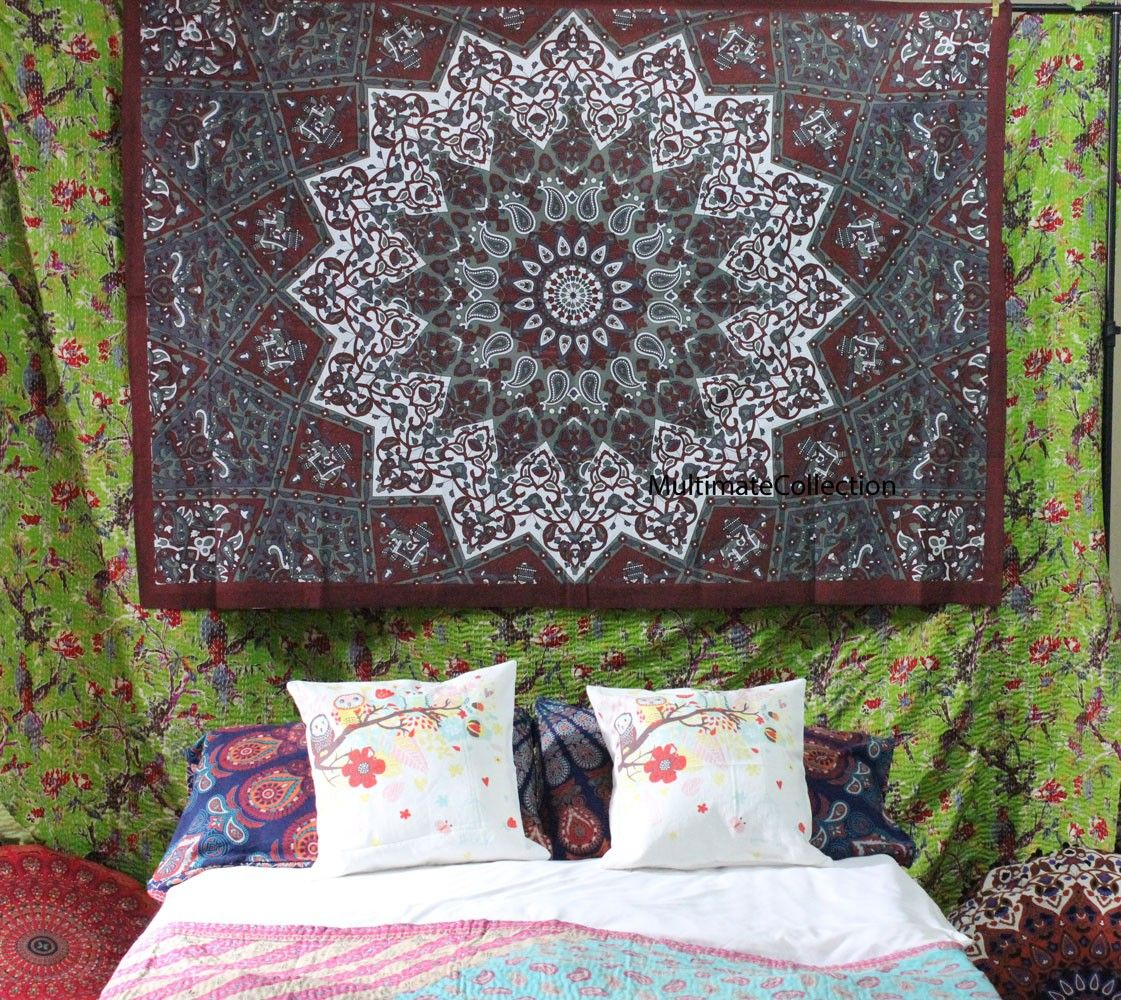 Inspiring Psychedelic Star Twin Tapestry