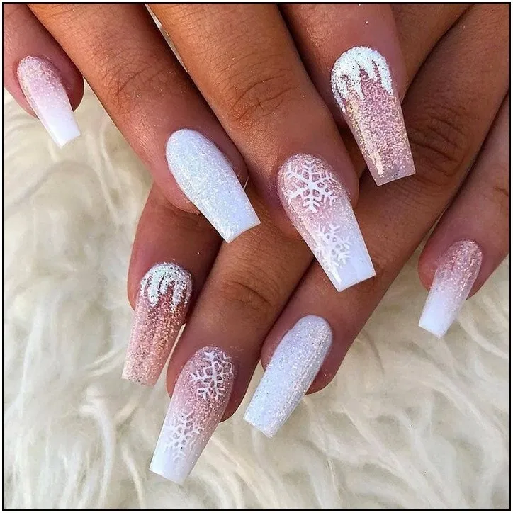 141 Suprising Christmas Nail Art Design Ideas For This New Year Part Page 11 Armaweb07 Com Winter Nails Acrylic Coffin Nails Designs Chistmas Nails