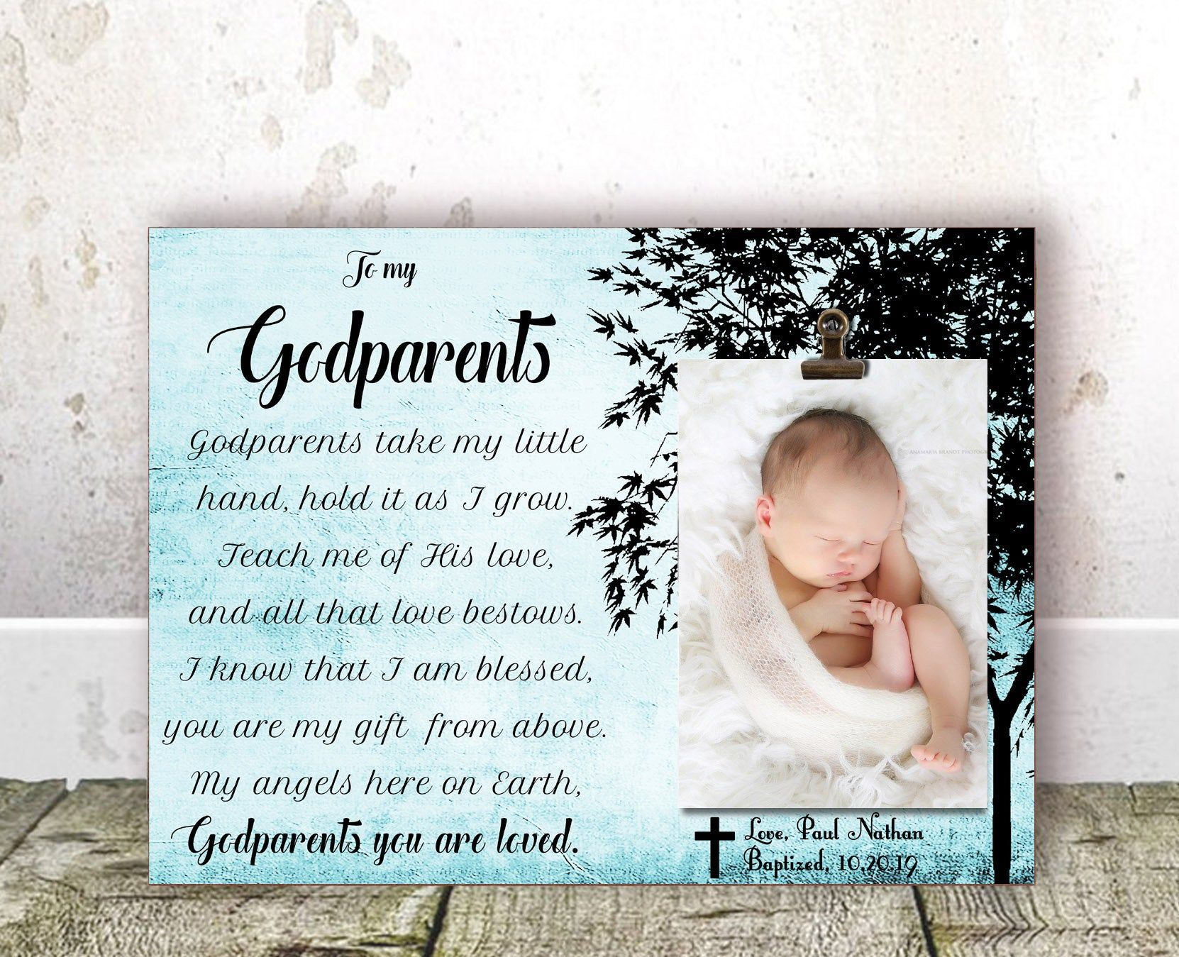 Godmother Gift for Godmother Baptism Gift Godmother Christening Gift Godmother Frame Godparents gift from Godchild Personalized Frame Aunt