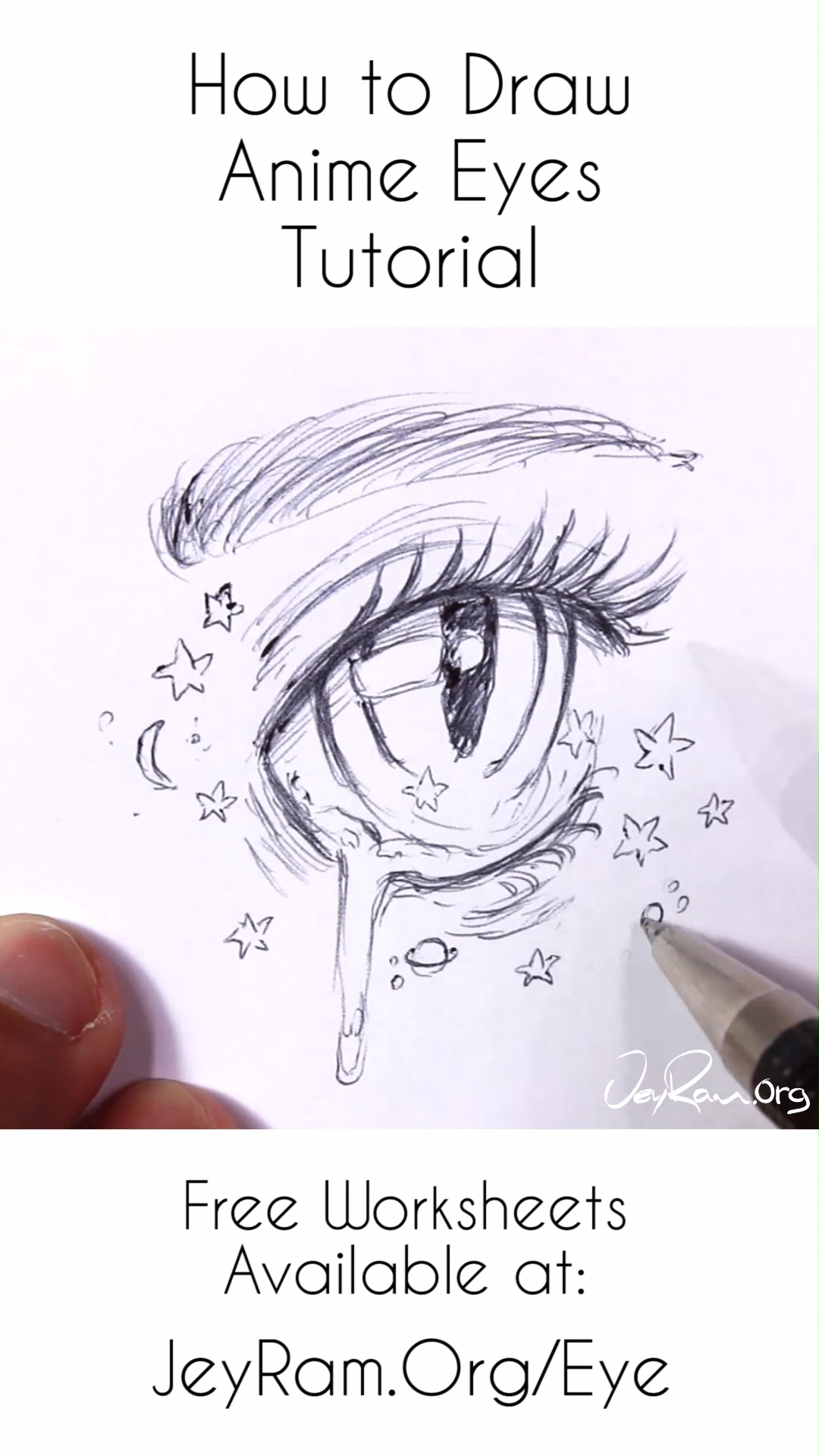 Learn How To Draw The Beautiful Female Anime Eyes Using