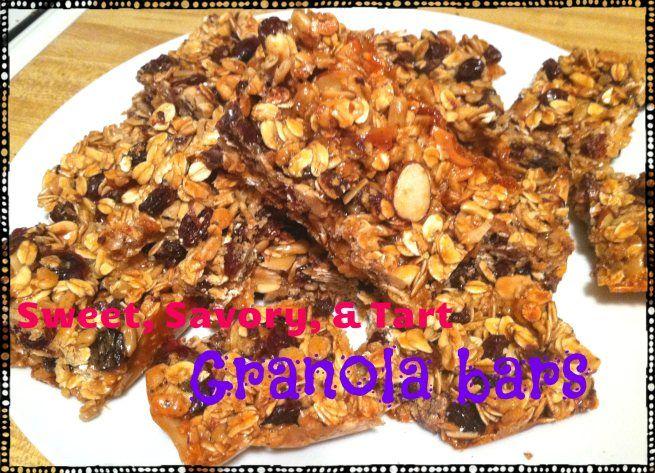 Sweet, Savory, & Tart Granola Bars -- a Trader Joe's remake!