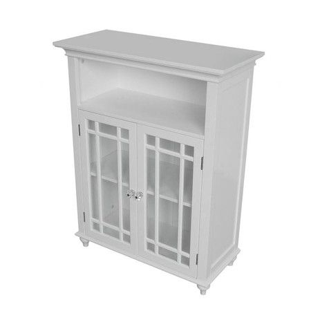 2 Door Cabinet With Lattice Detailing And An Open Top Shelf Product Cabinet Co Bathroom Floor Storage Bathroom Floor Cabinets Bathroom Floor Storage Cabinet