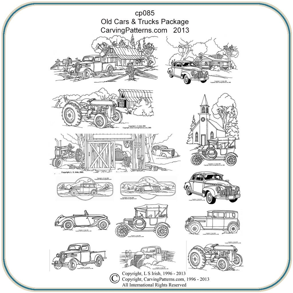 Old Cars Amp Trucks Patterns Pyrography Patterns Wood