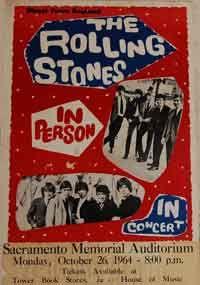 rolling stones sacromento concert poster