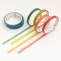 Rainbow+tape+set+made+of+washi+paper Great+for+scrapbooking,+decorative+use,+planners,+gift+wrap,+etc  Quantity:+1+set+(7+pcs) Size:+5+mm(W)+x+3+m(L)