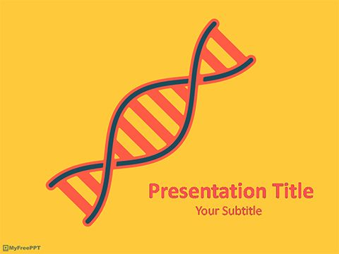 free dna analysis powerpoint template | medical template, Powerpoint templates