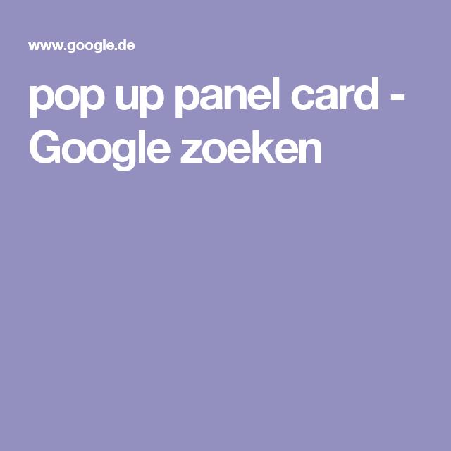 pop up panel card - Google zoeken