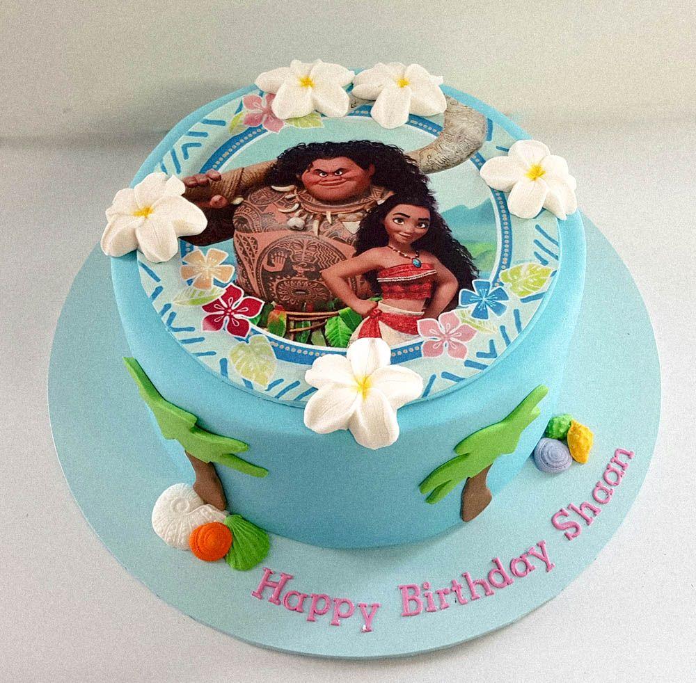 Image Result For Moana Buttercream Cake Moana Birthday Party
