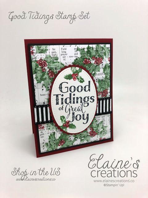 good tidings christmas holly cards elaine's creations