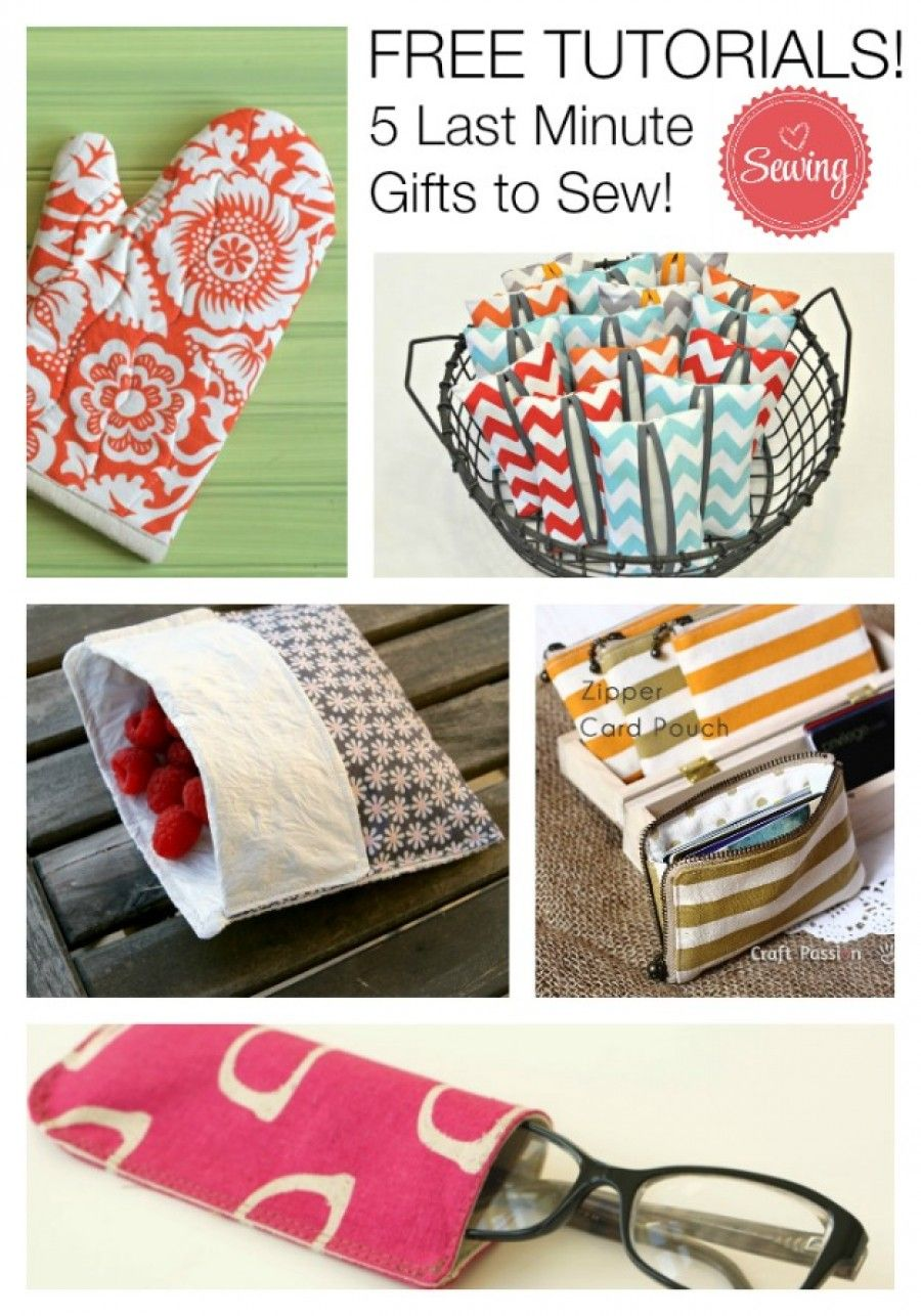 5 Last Minute Little Gift Ideas to Sew Sewing gifts