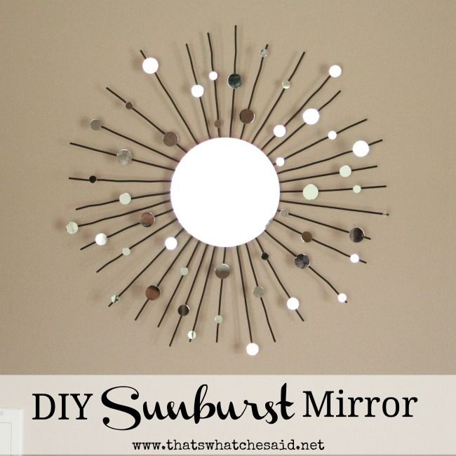 Diy Sunburst Mirror From A Candle Definitely Making This Instead Of Ing One Hobby