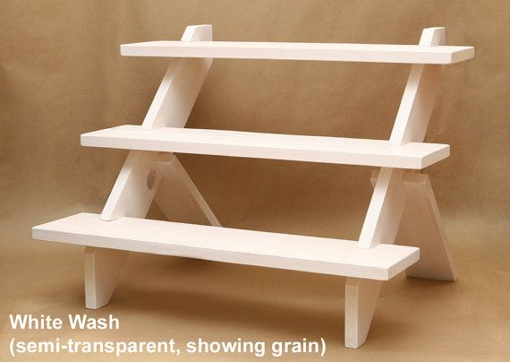 3 Tier Display Shelf Display Riser Store Display By Usaveco Tiered Display Shelves Wooden Display Stand Craft Show Displays