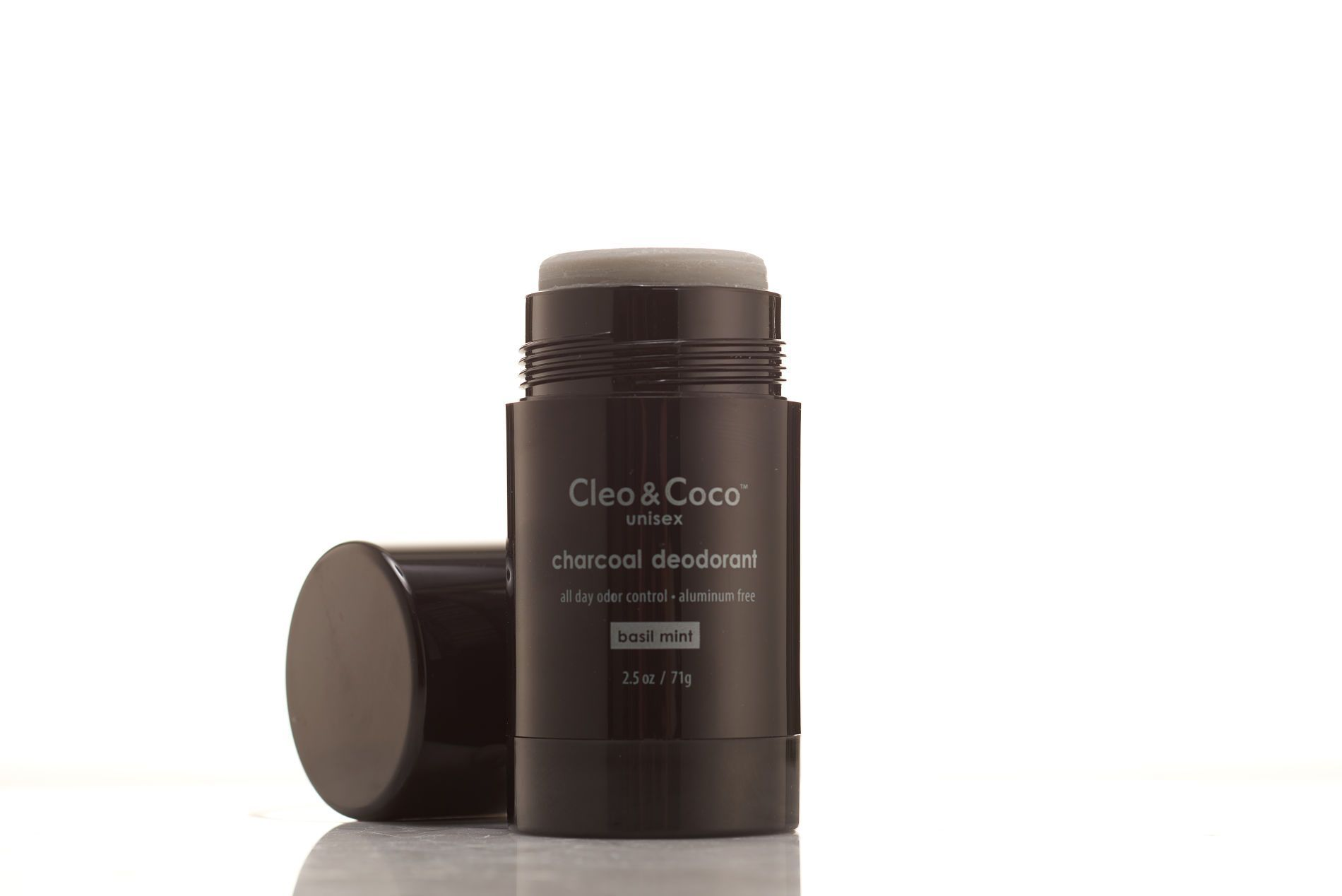 Charcoal deodorant unisex basil mint scent cleococo