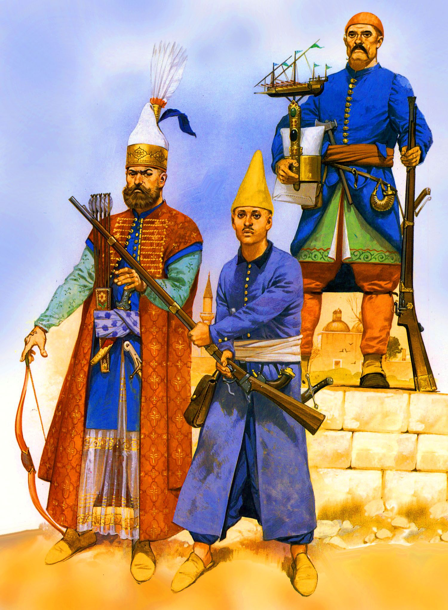 Ottoman Janissary troops and Acemi Oglan | Savaşçılar, AskeriOttoman Empire Janissaries