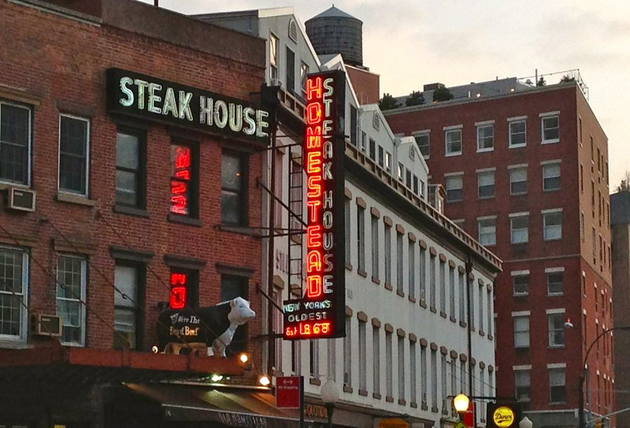 Old Homestead Steakhouse Meatpacking District Ephemeral New York Meatpacking District New York Travel Old Neon Signs