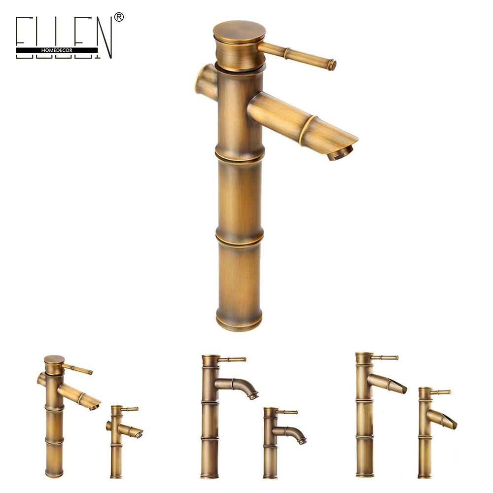 check discount antique brass waterfall bathroom sink faucet vessel ...