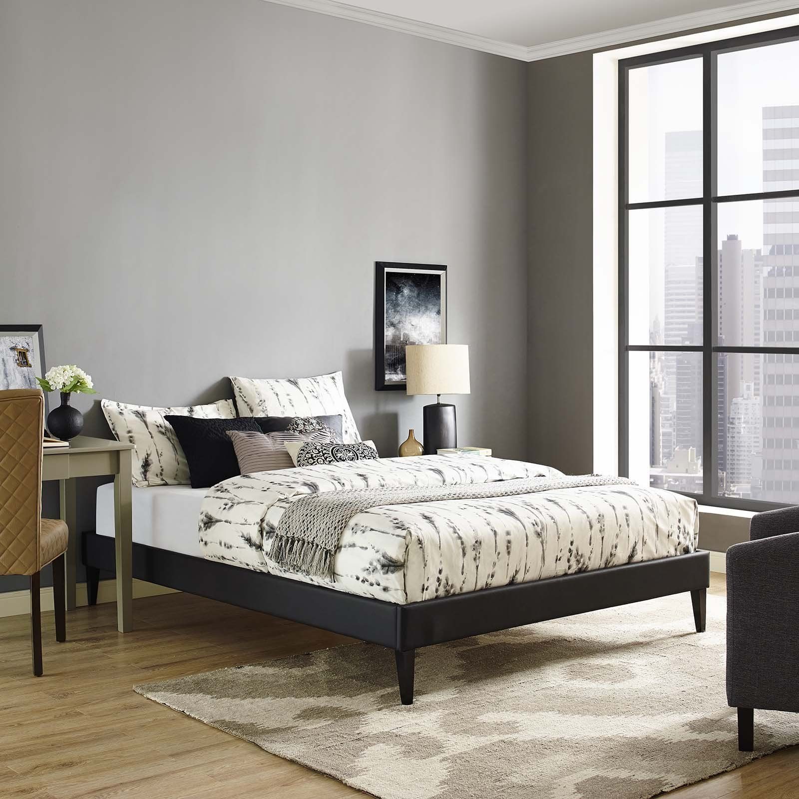 Modway Furniture Modern Tessie King Bed Frame with Squared