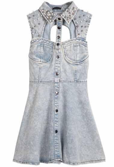 #denim #dress #denimdress