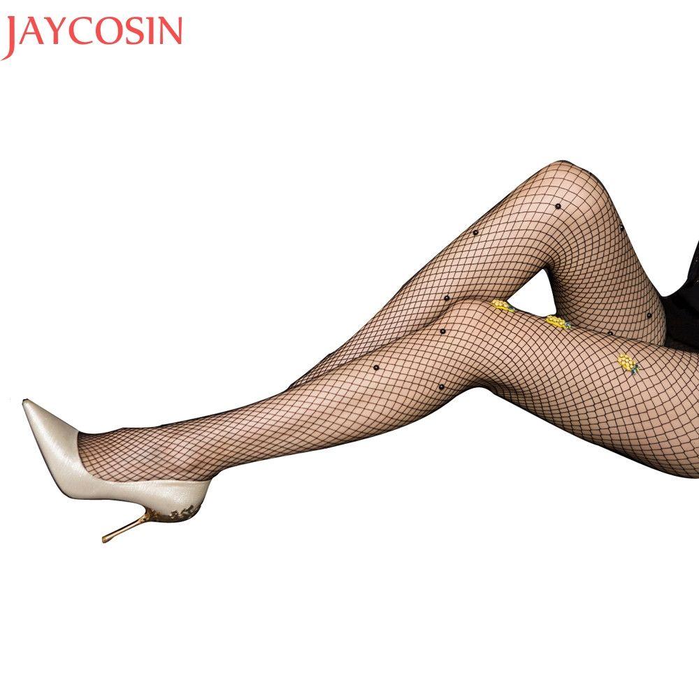 Summer Tights Women Fashion Lady Pineapple Net Fishnet Body