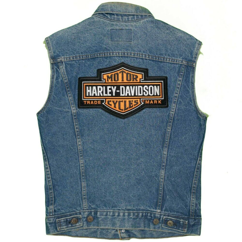 Levis HarleyDavidson Denim Vest Jacket Christian