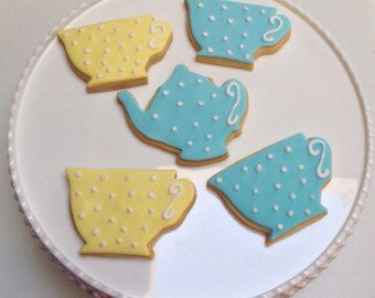 Teacup And Teapot Cookies Cha Das Cinco