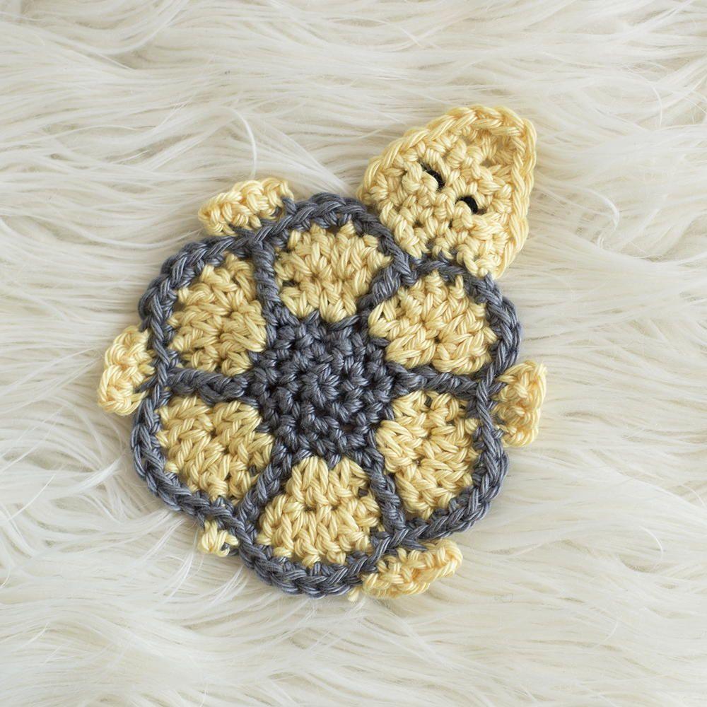 Turtle Coaster Crochet Pattern | Patrón de ganchillo, Ganchillo y ...