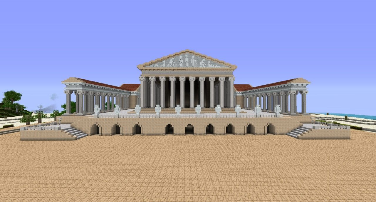 Ejbs Ancient Rome A D 320 Roman City Minecraft Map With