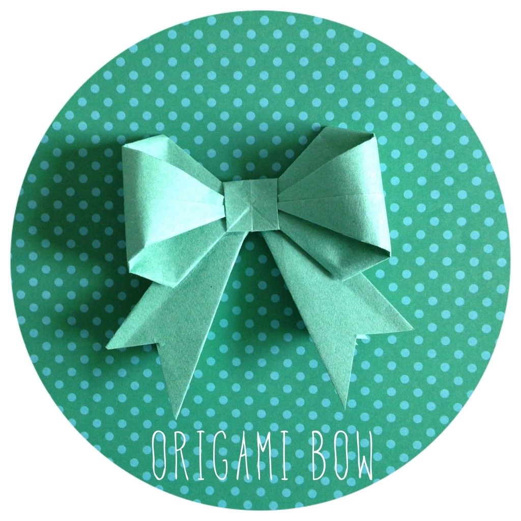 origami bow   DIY   Pinterest   Origami, Paper bows and ... - photo#12