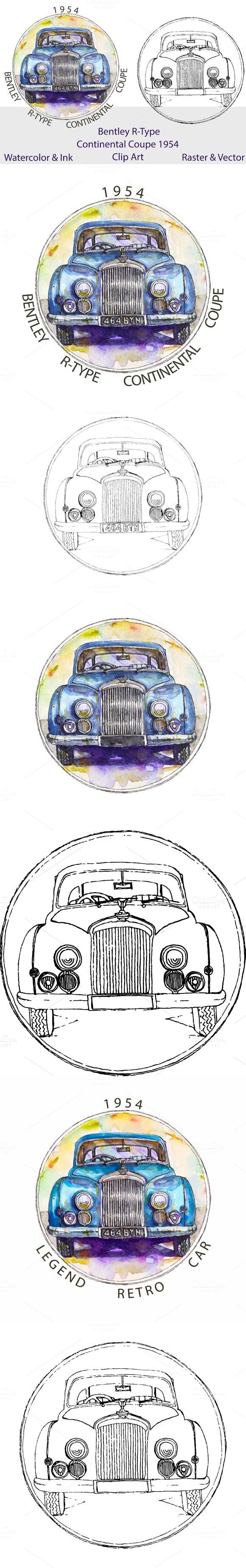 Watercolor Ink Vector Bentley Car Bentley Car And Vector File