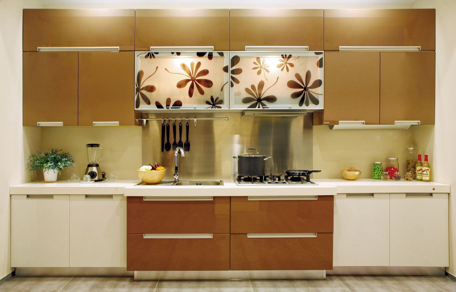 Wonderful Two Tone Kitchen Cabinets  Pictures Options Tips Inspiration European Kitchen Design Decorating Design