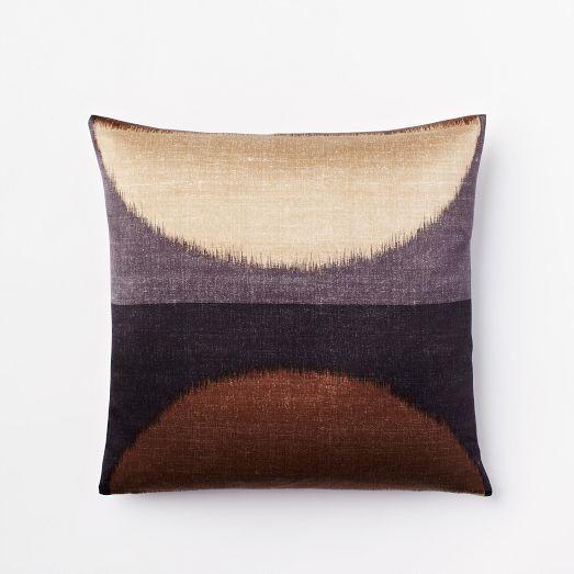 ikat moon silk pillow cover slate west elm global. Black Bedroom Furniture Sets. Home Design Ideas