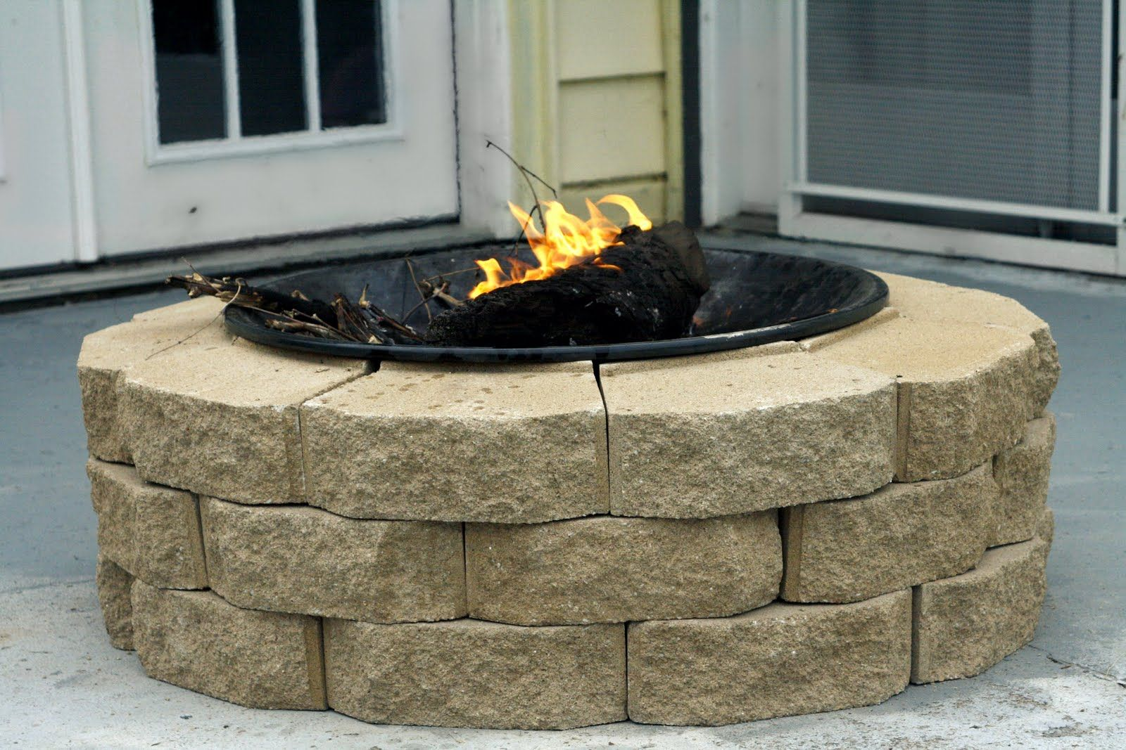 diy firepit this one only costing 30 do it yourself