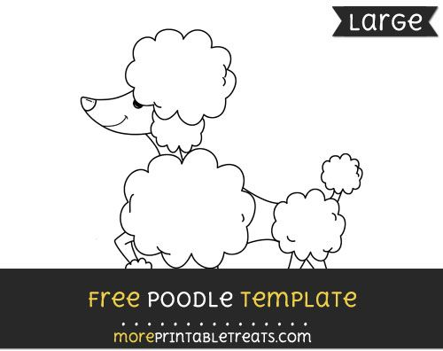 Free poodle template large shapes and templates printables free poodle template large pronofoot35fo Images